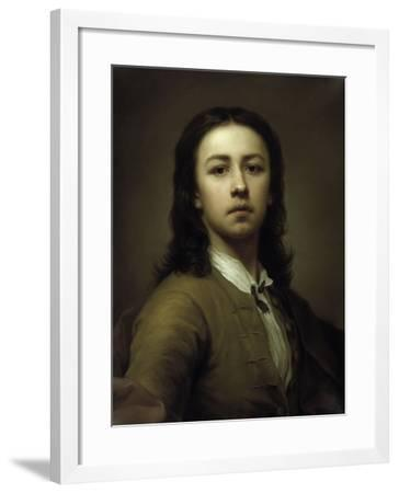 Self-Portrait With a Red Coat-Anton Raphael Mengs-Framed Giclee Print