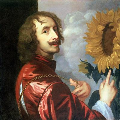 Self Portrait with a Sunflower, after 1632-Sir Anthony Van Dyck-Giclee Print