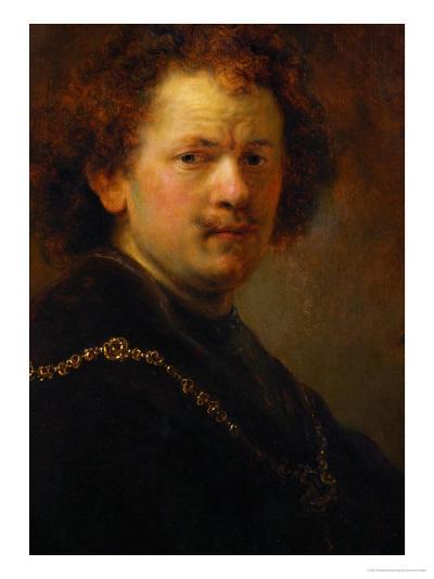 Self-Portrait with Bare Head, 1633-Rembrandt van Rijn-Giclee Print