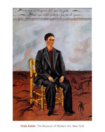 Self-Portrait with Cropped Hair, 1940-Frida Kahlo-Art Print