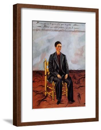 Self-Portrait with Cropped Hair, 1940-Frida Kahlo-Framed Art Print