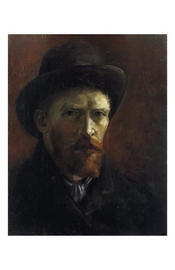 Self-Portrait with Dark Felt Hat-Vincent van Gogh-Art Print