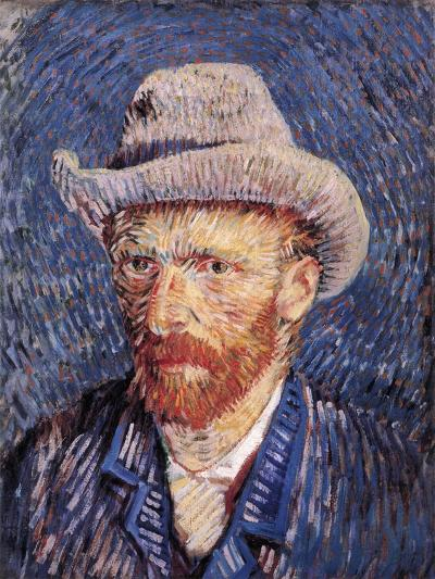 Self Portrait with Felt Hat, 1887-88-Vincent van Gogh-Giclee Print