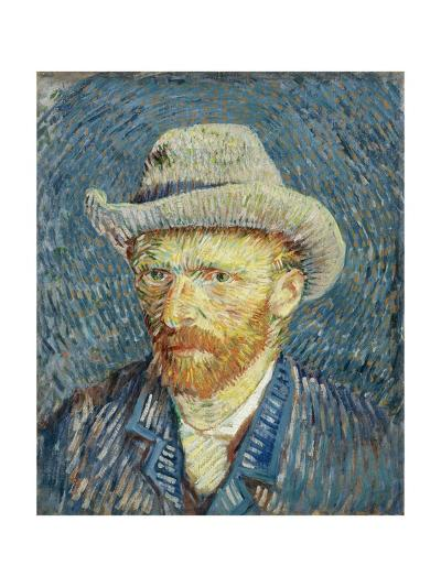 Self-Portrait with Grey Felt Hat-Vincent van Gogh-Giclee Print