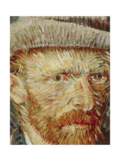 Self-Portrait with Hat, 1887-1888-Vincent van Gogh-Giclee Print