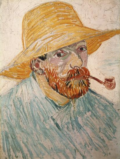 f5ff403bf97 Self-Portrait with Pipe and Straw Hat