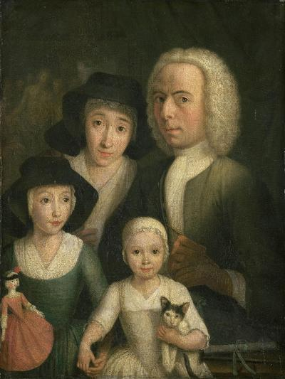 Self-Portrait with Suzanna Van Bommel and Two Daughters-Hendrik Spilman-Giclee Print