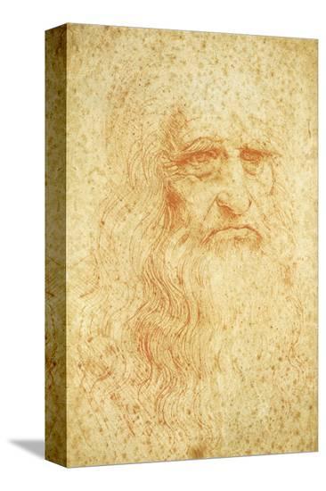Self-Portrait-Leonardo da Vinci-Stretched Canvas Print