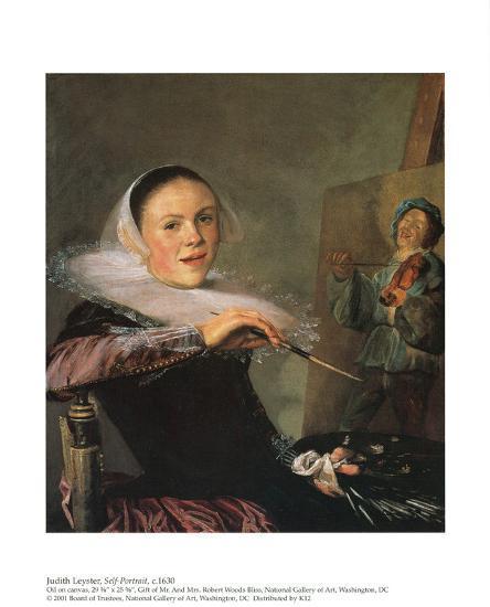 Self-Portrait Art Print by Judith Leyster   Art com
