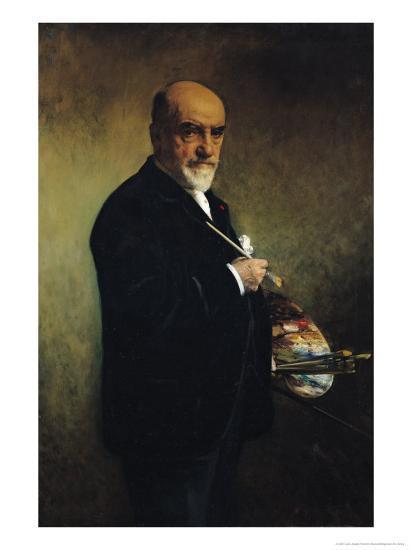 Self Portrait-Leon Joseph Florentin Bonnat-Giclee Print