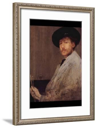 Self Portrait-James Abbott McNeill Whistler-Framed Art Print