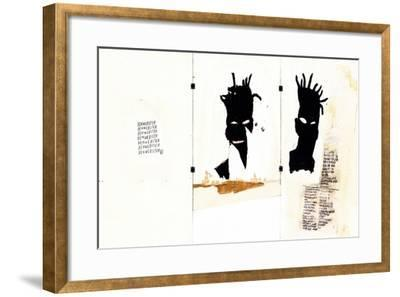 Self-portrait-Jean-Michel Basquiat-Framed Premium Giclee Print