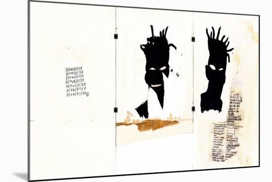 Self-portrait-Jean-Michel Basquiat-Mounted Giclee Print