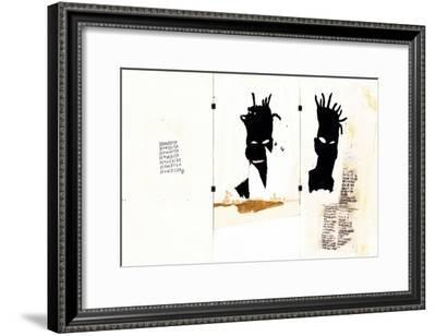 Self-portrait-Jean-Michel Basquiat-Framed Giclee Print