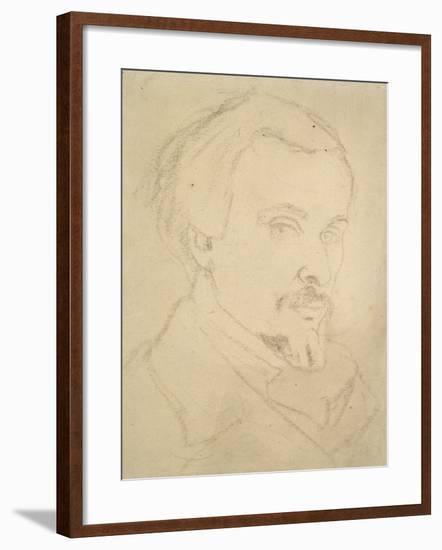 Self-Portrait-Dante Gabriel Charles Rossetti-Framed Giclee Print
