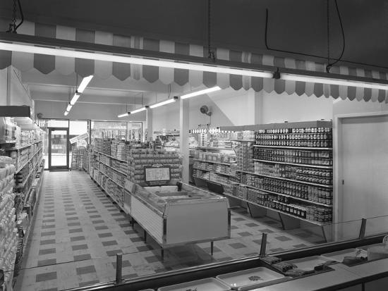 Self Service Shopping, Carlines Store, Goldthorpe, South Yorshire, 1961-Michael Walters-Photographic Print