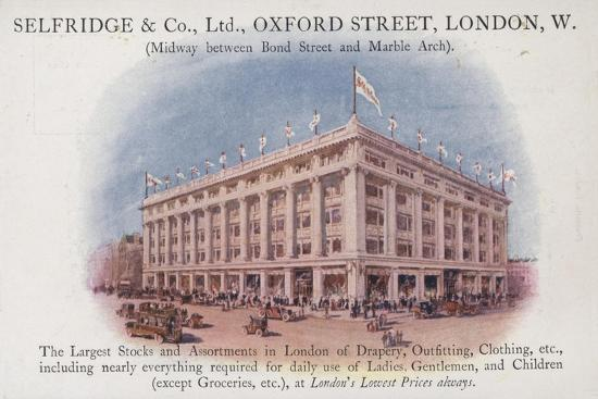 Selfridge and Company Limited, Oxford Street, London, West--Giclee Print