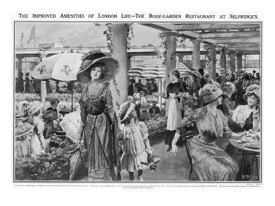 Selfridges' Roof Garden Restaurant, London, 1910--Giclee Print
