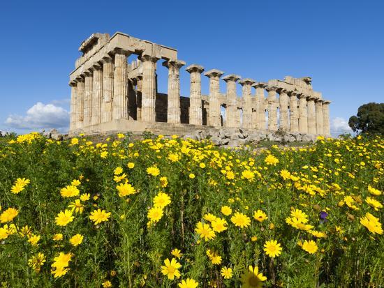 Selinus Greek Temple in Spring, Selinunte, Sicily, Italy, Europe-Stuart Black-Photographic Print