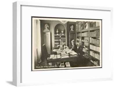 Selma Lagerlof Swedish Writer at Work in Her Study--Framed Giclee Print