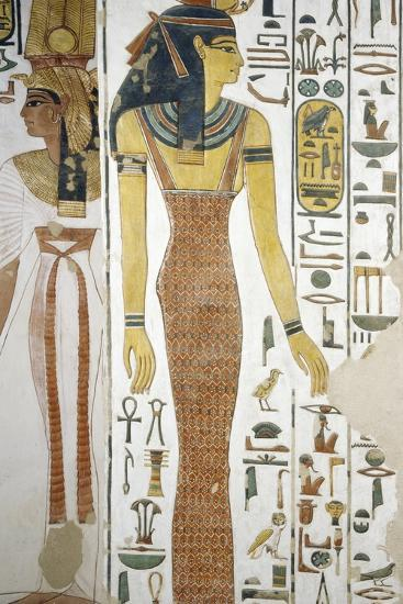 Selqet, Detail from the Frescoes in the Burial Chamber of Nefertari--Photographic Print