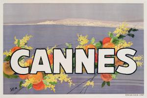 Advertisement for Cannes, Printed by Draeger, 1930 (Colour Litho) by Sem