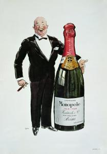 Advertisement For Heidsieck Champagne, c.1910 by Sem
