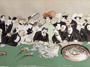 Gamblers in the Casino at Monte-Carlo. circa 1910 by Sem