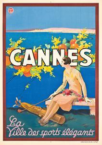Werbeplakat für Cannes by Sem Georges Goursat