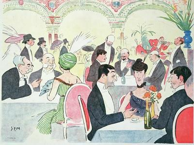 Noel Peter's Restaurant in Paris, 1914 (Colour Litho)