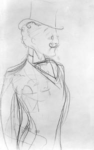 Portrait of Boni De Castellane (Pencil on Paper) by Sem