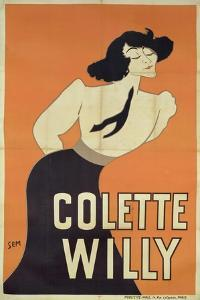 Poster Depicting Colette Willy (1873-1954) by Sem