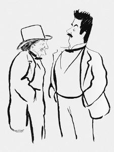 Victorian Sardou and Giacomo Puccini by Sem