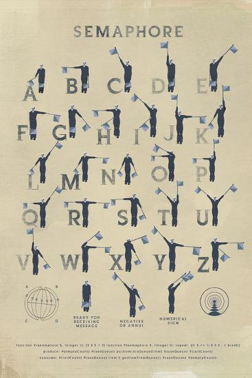 Semaphore-Ken Hurd-Giclee Print