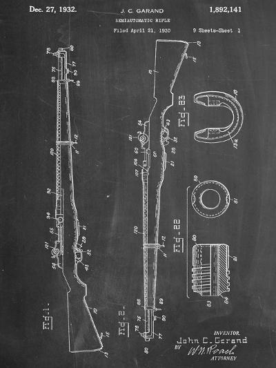 Semi Automatic Rifle Patent--Art Print