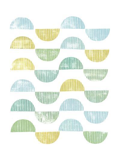 Semi Circle Block Print I-Grace Popp-Art Print
