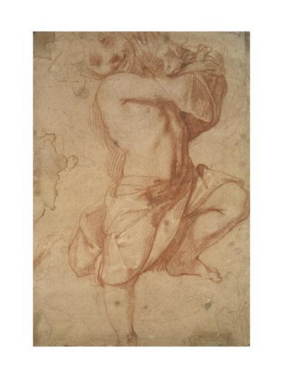 Semi-Nude Boy (Chalk on Paper)-Annibale Carracci-Giclee Print