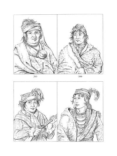 Seminole Chiefs, Fort Moultrie, South Carolina, 1837-1838-Myers and Co-Giclee Print