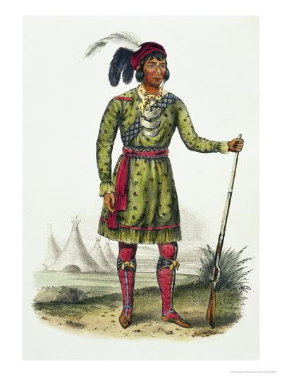 Seminole Leader, History of the Indian Tribes of N. America Osceola-Thomas Loraine Mckenney-Giclee Print