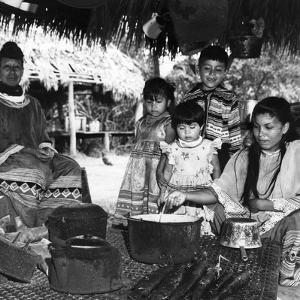 Seminole Woman Preparing a Meal, C.1955