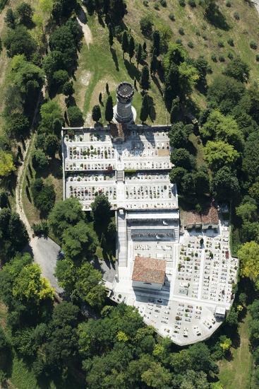 Semonzo, Cemetery, Bassano, Veneto, Monument, Aerial Picture, Memorial, Semonzo, Monument, Italy-Frank Fleischmann-Photographic Print