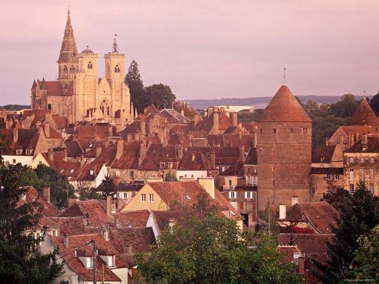 Semur-En-Auxois, Chablis, Burgundy, France-Doug Pearson-Photographic Print