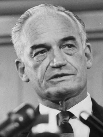 Sen. Barry Goldwater Campaigning for Gop Presidential Nomination at the Illinois State Convention--Photographic Print