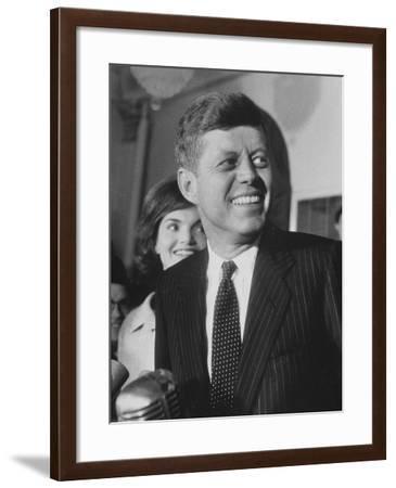 Sen. John F. Kennedy and His Wife-Ed Clark-Framed Photographic Print