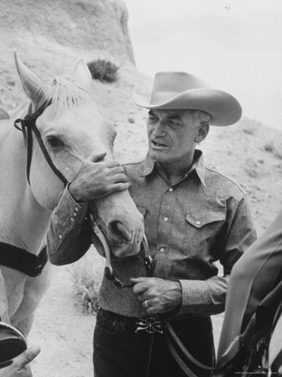 Senator Barry M. Goldwater, Riding His Horse is One of His Hobbies-Leonard Mccombe-Photographic Print