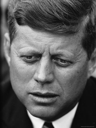 Senator John F. Kennedy During Press Conference at Gracie Mansion-Howard Sochurek-Photographic Print