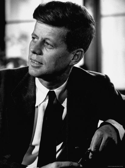 Senator John F. Kennedy, Posing For Picture-Hank Walker-Photographic Print