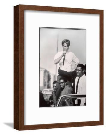 Senator Robert F. Kennedy Campaigning During the California Primary-Bill Eppridge-Framed Premium Photographic Print