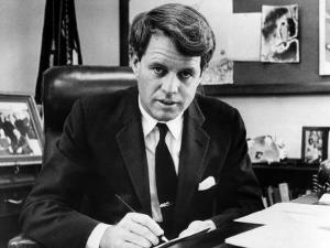 Senator Robert F. Kennedy in His Office, Washington, D.C., March 2, 1967