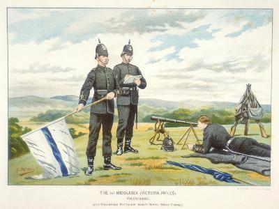 Sending a Semaphore Signal Using Flags, C1880-Geoffrey Douglas Giles-Giclee Print